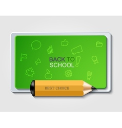 Modern back to school background vector