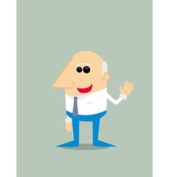Old Cartoon businessman vector image