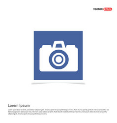 Photo camera icon - blue photo frame vector