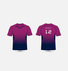 Purple and blue layout football sport t-shirt vector