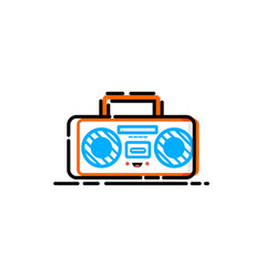 radio mbe style logo vector image