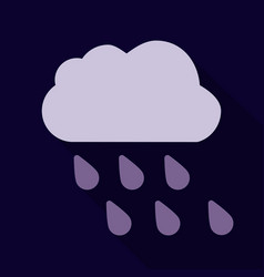 rain icon in trendy flat style isolated on vector image