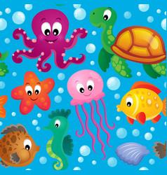seamless background sea theme 2 vector image