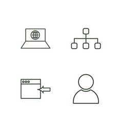 seo outline icons set vector image