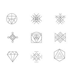Set of geometric hipster shapes7 vector