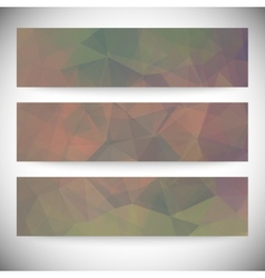 Set of horizontal banners Abstract background vector image