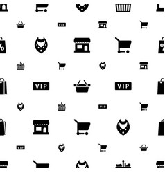 Shopping icons pattern seamless white background vector