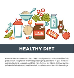 sports nutrition and fitness gym dietary vector image