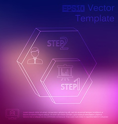 subtle elements of infographics Thin style On blur vector image