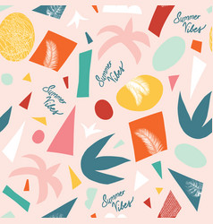 summer vibes seamless pattern contemporary vector image