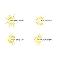 Sun icon logo vector