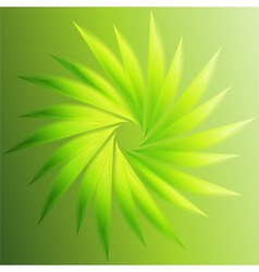 Swirl abstract green background vector