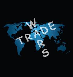 Trade wars world map vector