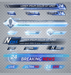 tv news and streaming video banners vector image