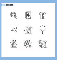User interface pack 9 basic outlines ipod vector