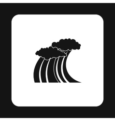 Wave icon in simple style vector