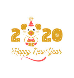 year rat 2020 chinese zodiac happy new vector image
