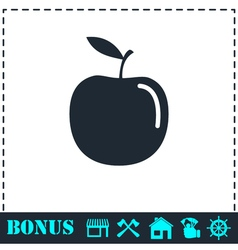 Apple icon flat vector image vector image