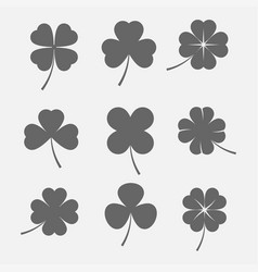 clover leaves icon vector image