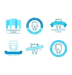 Dental logo set vector image