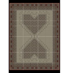 Design carpet from ethnicornamentatcenter vector image vector image