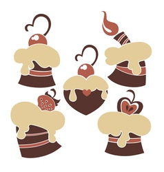 lovely cakes and sweets vector image