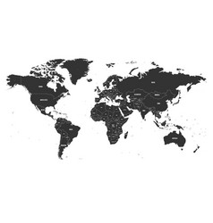political map of world with state name vector image