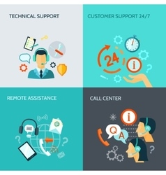 Remote Assistance And Technical Support Banners vector image