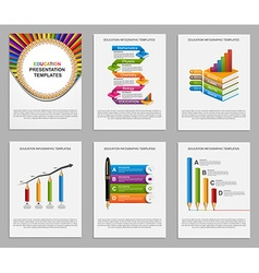 Set Infographics for education brochures and vector image vector image