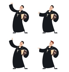 Set of Catholic priests vector image