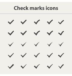 Tick icon set vector image
