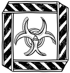 doodle bio hazard vector image