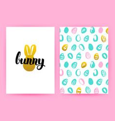 easter bunny hipster posters vector image vector image