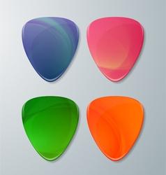 Set of Guitar Picks vector image