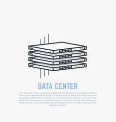 thin servers flat vector image