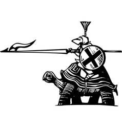 Turtle Knight vector image vector image