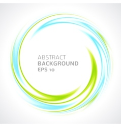 Abstract light blue and green swirl circle bright vector image