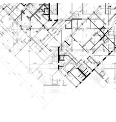 architectural black and white background vector image vector image