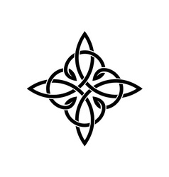 Celtic knots elegant cross weaven tattoo template vector image
