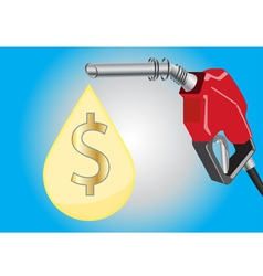 fuel dispensers and oil drop with money symbol vector image vector image