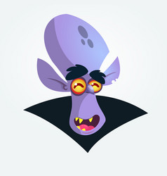 happy cartoon dracula head icon vector image