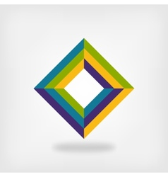 colored square logo symbol vector image vector image