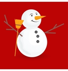 cute little snowmen vector image vector image