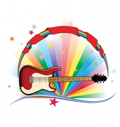 guitar light vector image vector image
