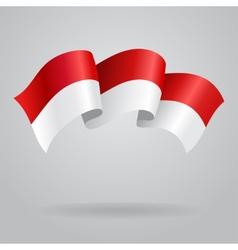 Indonesian waving Flag vector image vector image