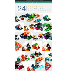 mega collection of 24 low poly triangle abstract vector image