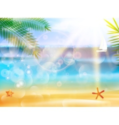 Seaside view poster vector image