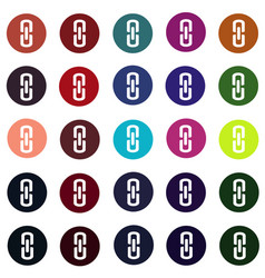 set of link connection buttons - internet website vector image vector image