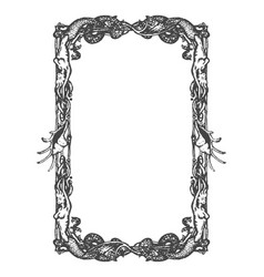 vintage nautical and marine frame vector image vector image