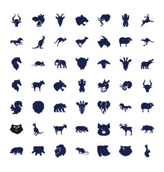 49 mammal icons vector